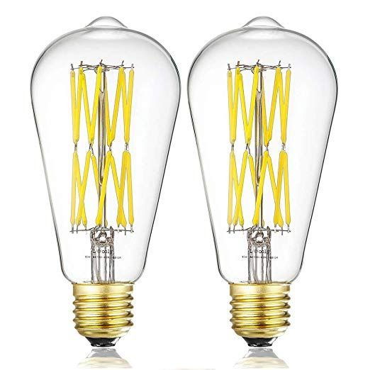 Leools Edison Led Vintage Bulb 15w Dimmable Filament Light Bulb St64 1300 Lumen Neutral White 4000k 100w 1 Vintage Bulb Filament Bulb Lighting Filament Bulb