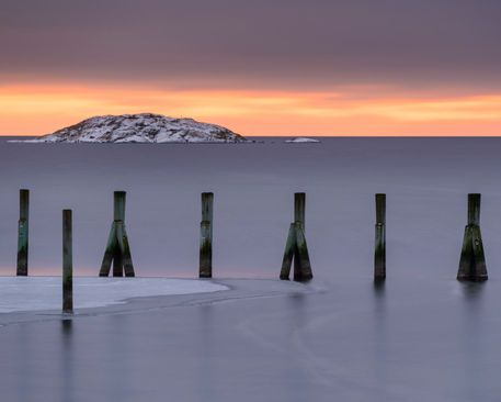 'Wooden pilings ' by Mikael Svensson on artflakes.com as poster or art print $20.79