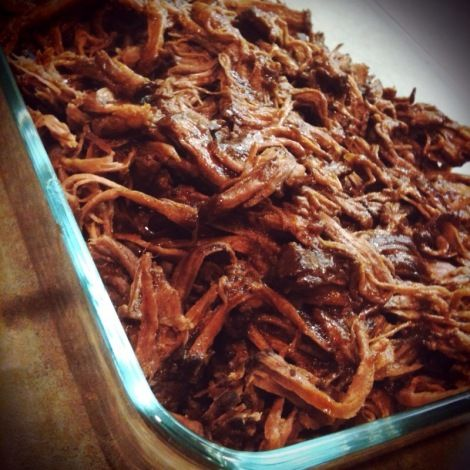 Pulled beef in crockpot...Tried 6/27/13... This turned out really well, very delicious.  There is a lot of sauce and it's not as thick as I thought it would be, but this turned out really good. I used half babay ray's hickory and brown sugar and half original.