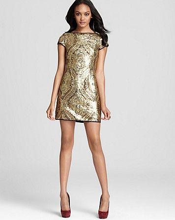 Nanette Lepore Dress - Society Sheath Sequin - Contemporary ...