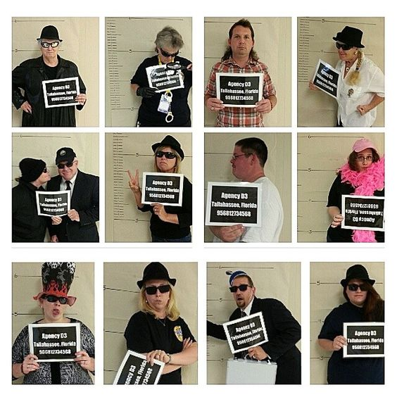 Secret Agent Mug Shots. I'm going to put these all around the sides of the Worship Center.