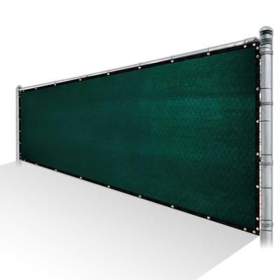 Colourtree 5 Ft X 50 Ft Green Privacy Fence Screen Mesh Fabric Cover Windscreen With Reinforced Grommets For Garden Fence Tap0550 1 The Home Depot In 2020 Privacy Fence Screen Fence Screening Garden Fence