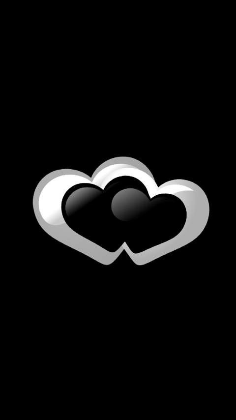 Black N White Hearts In 2019 Wallpaper Backgrounds Black