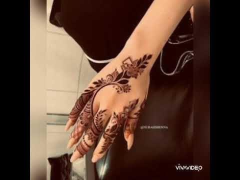 نقش الحناء لوحه فنيه وابداع Youtube Hand Henna Henna Hand Tattoo Henna