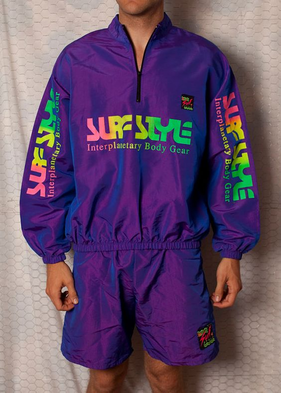 INCREDIBLE Surf Style Windbreaker Jacket and Shorts - Iridescent