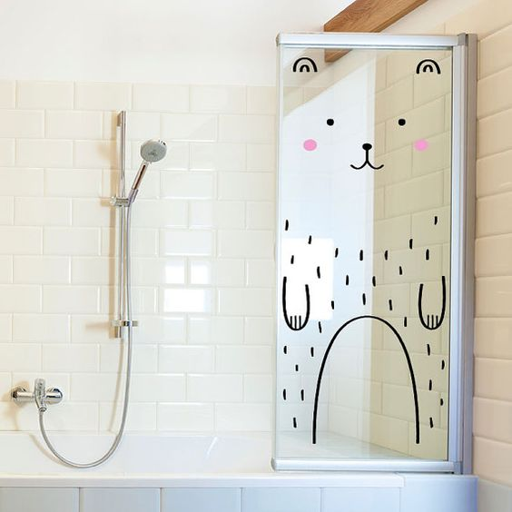 Haru the Happy Bear Door decal / Wall decal for by MadeofSundays: