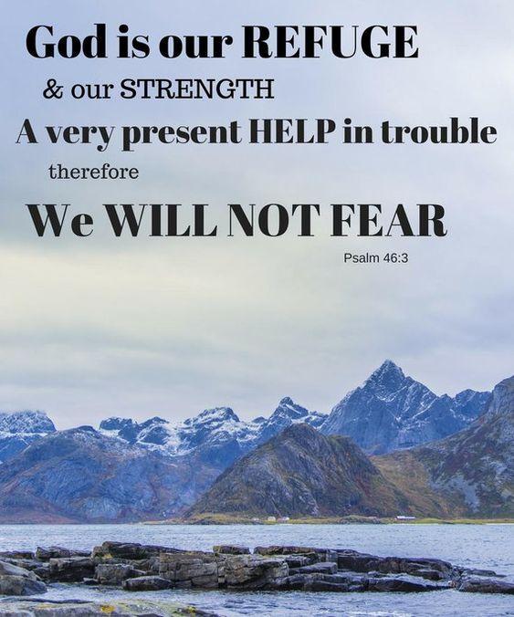 Printable Art Poster -God if Our Refuge - Christian art - Bible art. Church art. Home art. Faith.