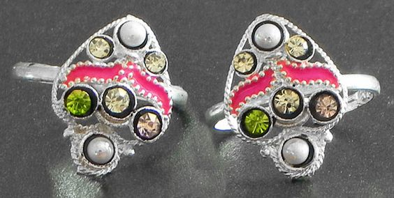 Stone Studded Toe Ring (Stone and Metal))