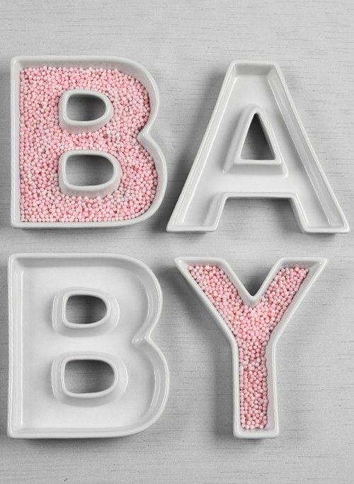 OpentipCom Ivy Lane Design Baby Letter Dish Set  Baby Reveal