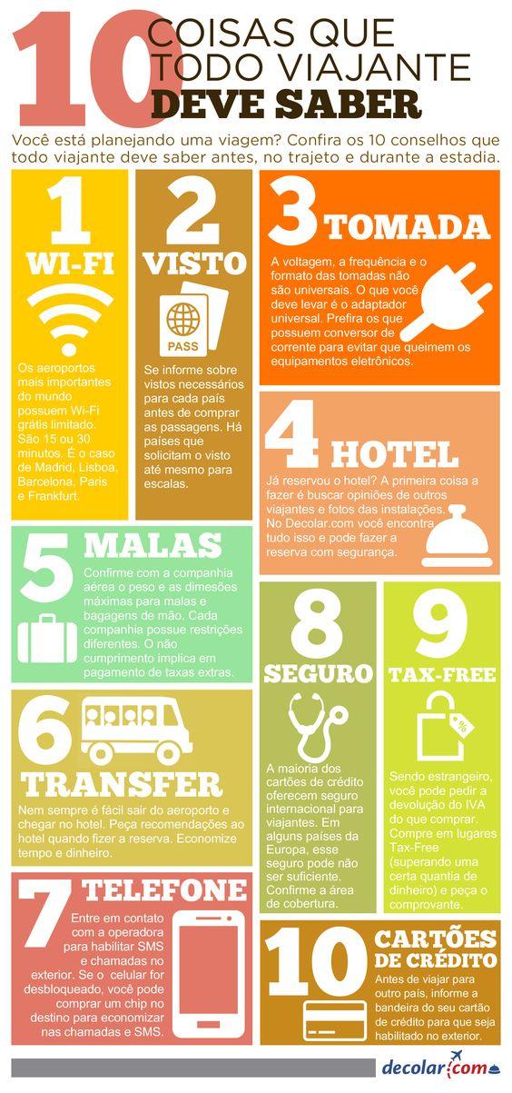 10 dicas que todo viajante deve saber: