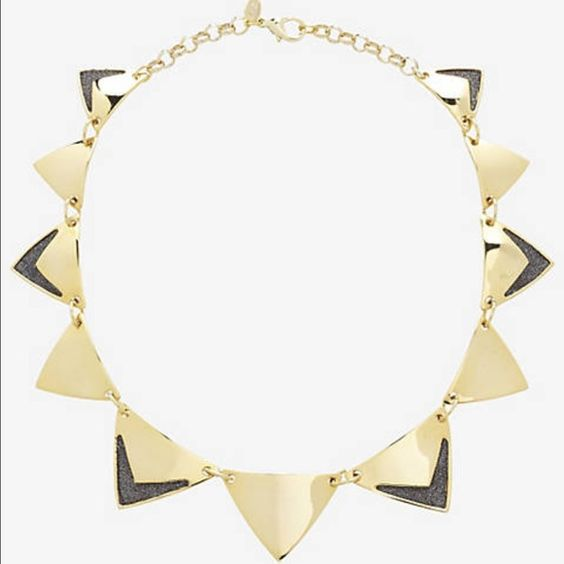 Triangle necklace Triangle necklace with glitter detail. Worn once. Express Jewelry Necklaces