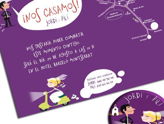 Ejemplos tarjetas de invitacion para bodas con citas - Ideas super originales para bodas ...