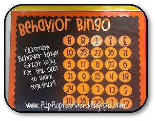 Behavior Bingo! sounds like a good idea to try!