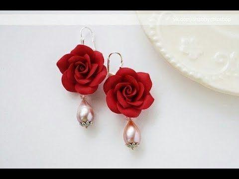 عجينة السيراميك علي النار وعمل وردة واشكال اخريeasy Air Dry Dough Youtube Flower Jewellery Polymer Clay Jewelry Polymer Clay Flowers