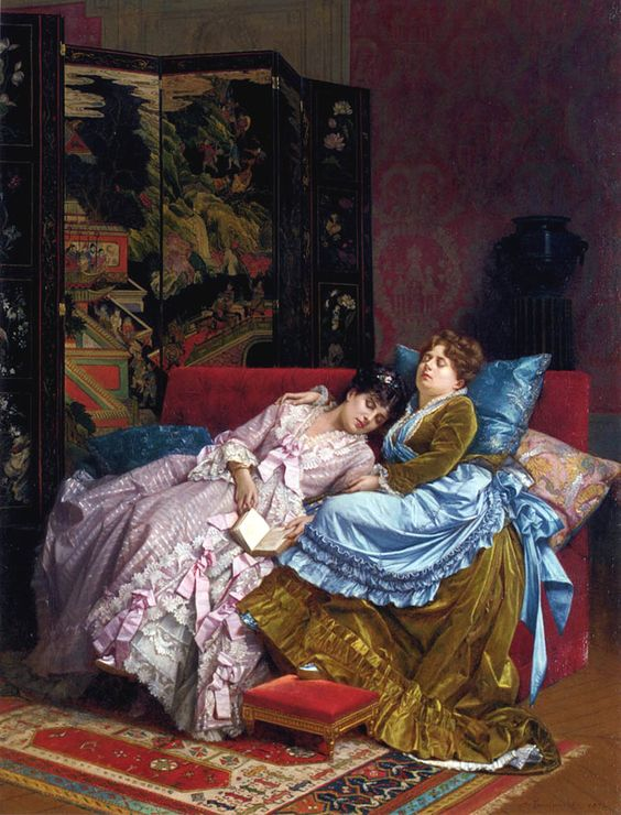 An Afternoon Idyll Auguste Toulmouche 1874: