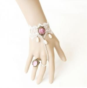 Retro lace bracelet with ring,The bride bridesmaid small jewelry wholesale wedding gifts