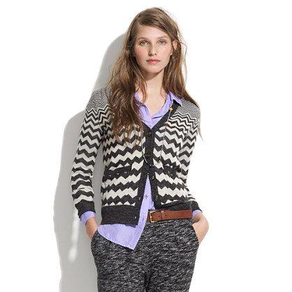 Graphic Songstress Cardigan by madewell: Made of Acrylic/wool/linen/alpaca. #Sweater #Cardigan #madewell