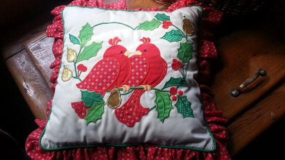 Sale Vintage Christmas Pillow Two Turtle by GoingBackwithTNJed, $20.00