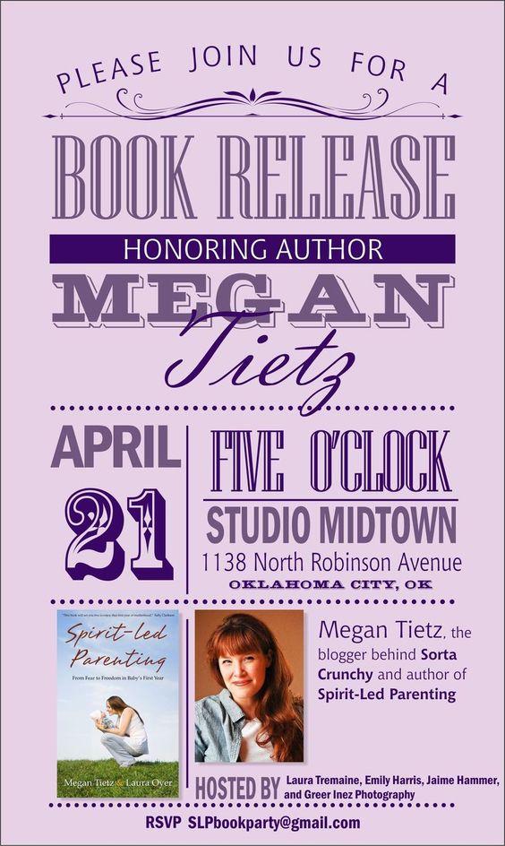 super cute book release party invite