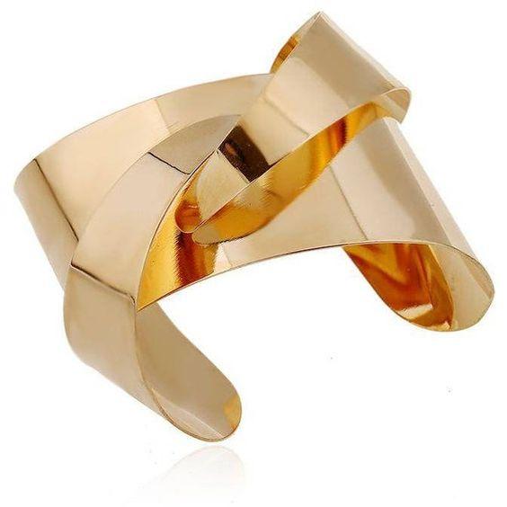 Yoins Open Cuff Bracelets (¥2,215) ❤ liked on Polyvore featuring jewelry, bracelets, yoins, gold, gold cuff bracelet, cuff bangle, gold cuff bangle bracelet, gold jewelry and bangle cuff bracelet