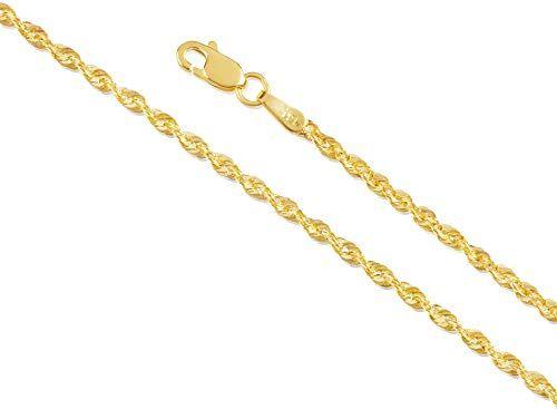 Best Seller 14k Gold 1 5mm 2mm 3mm 4mm 5mm Rope Chain Necklace Bracelet Men Women Unisex Hollow Braided Twist Gold Chain Necklace 14k Gold Necklace 1 Bracelets For Men