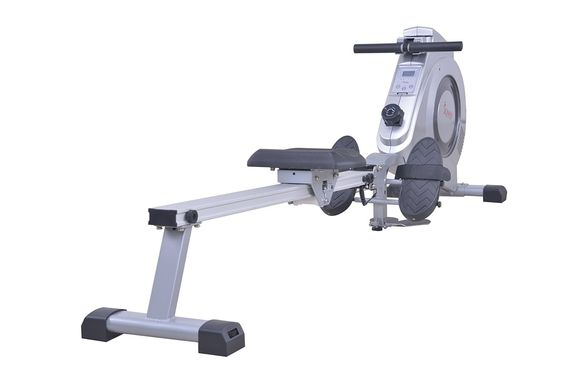 This Sunny Health & Fitness SF-RW5612 Magnetic Rowing Machine gives you a standard rowing workout and can be used to strengthen your arms and shoulders as well.
