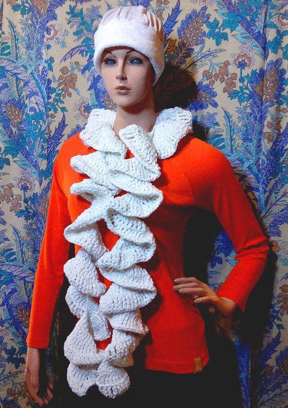 Espiral de la bufanda de ganchillo