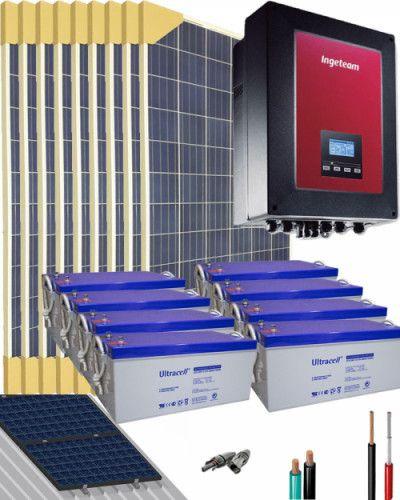 Kit Solar Trifasico 15000w 48v 57600whdia Al Mejor Precio En 2020 Kit Solar Placas Solares Madera Y Resina