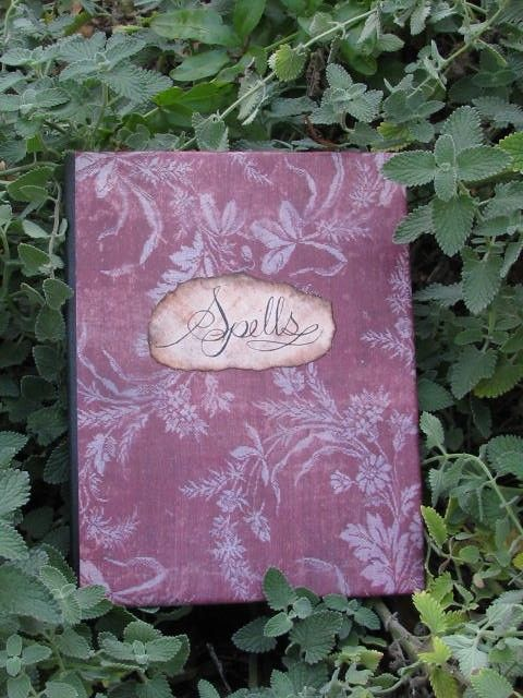 Antiqued Spell Book wicca magick by wanderingmermaid on Etsy