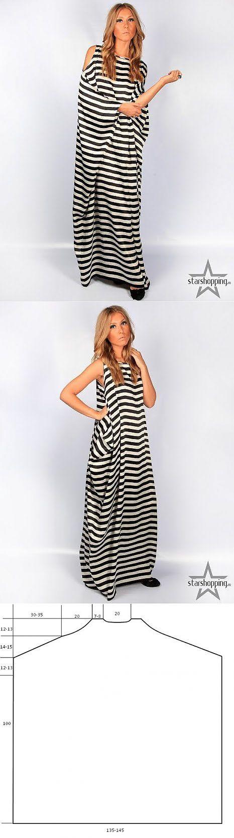 vestido original listrado (padrгo) / padrгo simples /:
