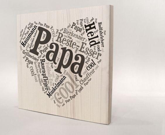 Geschenke für Männer - Papa Herz, Geschenk für Papa, Geschenkidee Papa - ein Designerstück von Manufaktur-Kister bei DaWanda