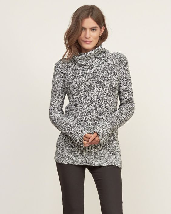 Womens Shaker Stitch Turtleneck Sweater | Womens Sweaters ...