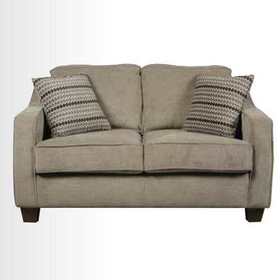 Lismore 2 Seater Sofa In Mink Fabric With Dark Feet Sofa 2 Seater Sofa Fabric Sofa