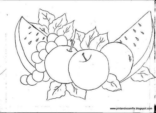 Dibujos para pintura en tela frutas buscar con google - Dibujos infantiles para pintar en tela ...
