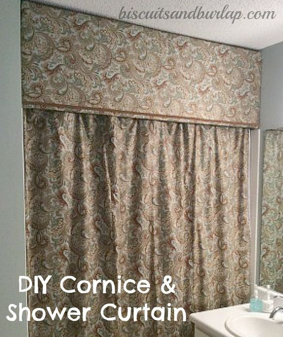 Curtains Ideas best sewing machine for making curtains : Shower Curtain with Cornice Board | Skirts, Sewing and Read more