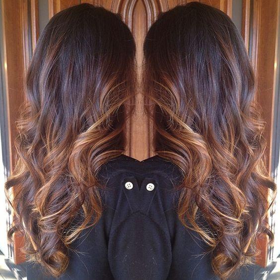 Brunette and Caramel Balayage Babe. Spring hair. StyledByKate Instagram @StyledByKate_