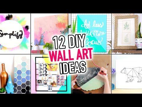 3 12 Easy Wall Art Room Decoration Ideas Diy Compilation