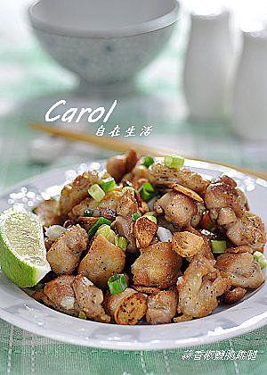Carol 自在生活  : 蒜香椒鹽脆雞腿
