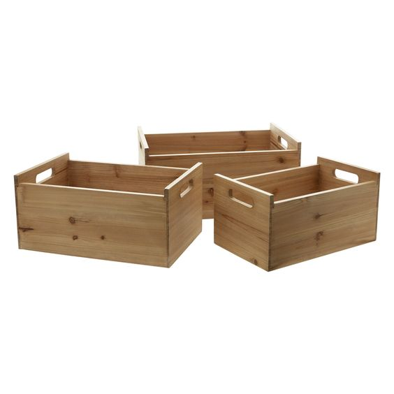 Decorative Boxes Tk Maxx : Quot chic country natural wooden crates tk maxx home