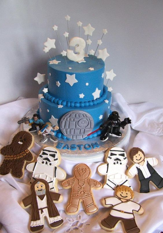 star wars cake & cookies
