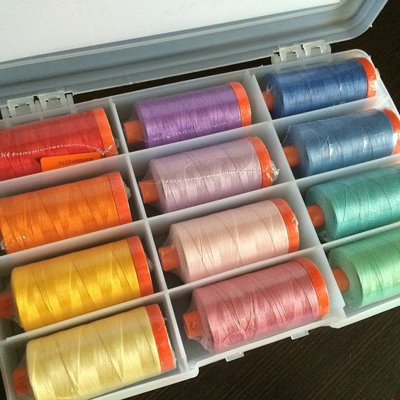 Yum! LOVE this new collection from @aurifilthread! #aurifil #SwirlyGirls