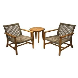 Outdoor Interiors 3 Piece Teak Conversation Set Set Tna7750 Teak Lounge Chair Outdoor Lounge Furniture Modern Outdoor Furniture