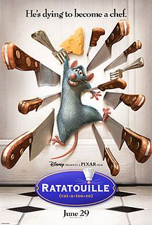 Disney Sunday Marathon - 11/04/12 Ratatouille (2007) is about a rat who loves to cook. Takes place in Paris.