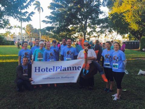 Some of HotelPlanner's team members participating in the 2014 Turkey Trot 5K! #hotelplanner #grouprates #meetingspace    #turkeytrot2014  #westpalmbeach #happythanksgiving #run