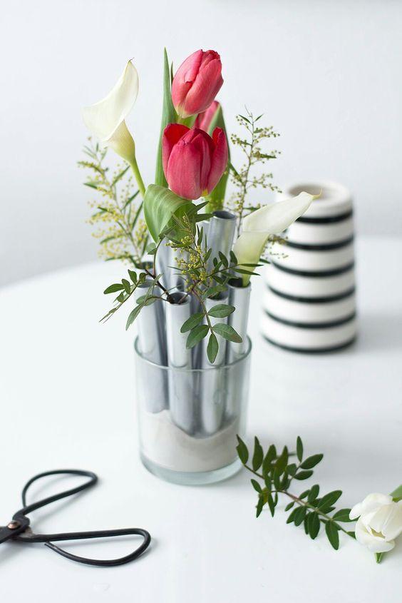 Silbernes Vasen Ensemble
