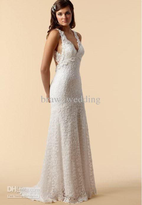 Wholesale New Perfect Charming Mermaid lace wedding dresses with keyhole back Bridal Gown N-1, Free shipping, $134.4-143.36/Piece   DHgate