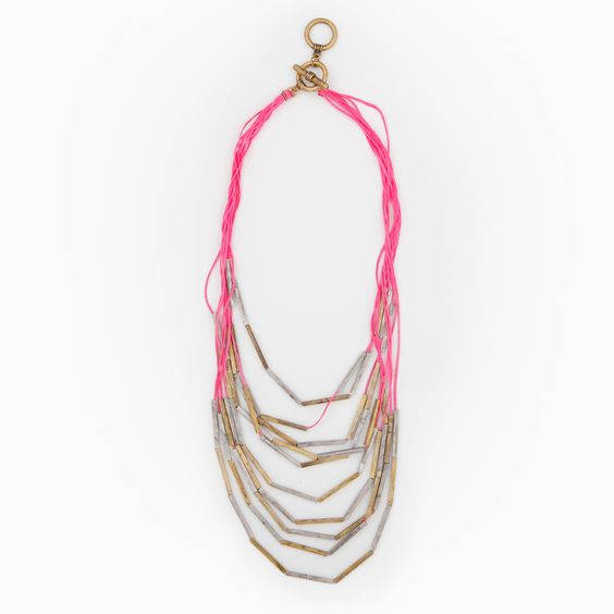 Bamboo String Draped Necklace