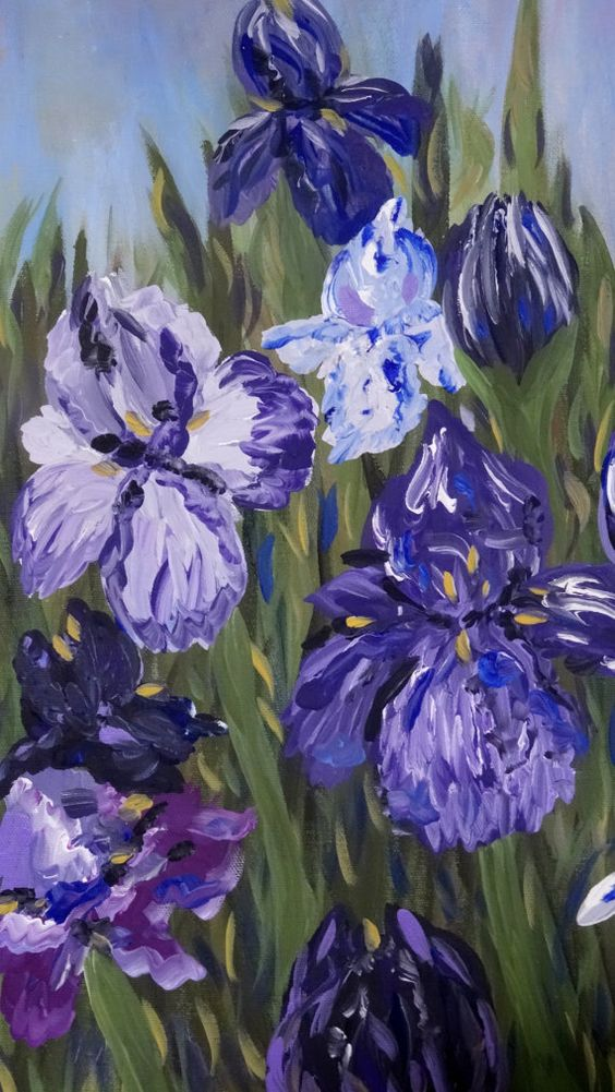 Iris Acrylic Painting on canvas 16W x 20H x 5/8 D by Celise Paine, $75.00 follow or msg me on facebook for special orders or available paintings and prints for sale
