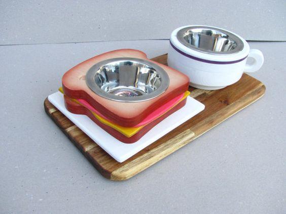 TOAST & MILK funky decorative wood handmade pet by Cc2kdesign