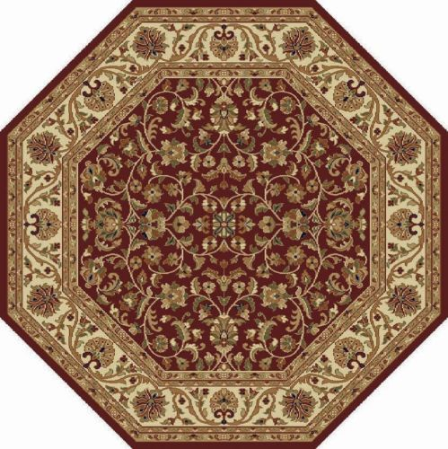 Octagonal Foyer Rug : Red traditional octagon persian area rug bordered carpet
